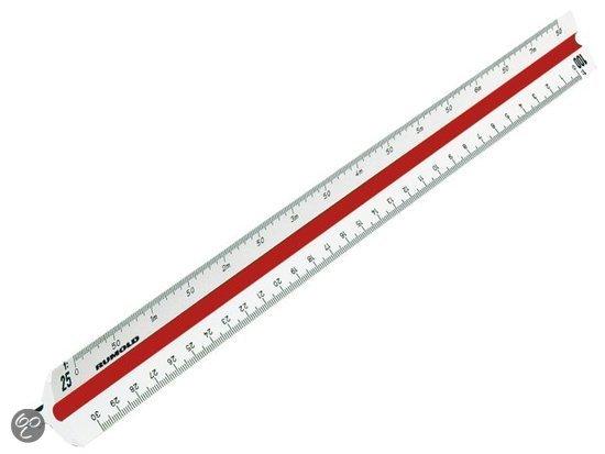 Rumold Schaalstok 3-kantig 150/30 2 30cm