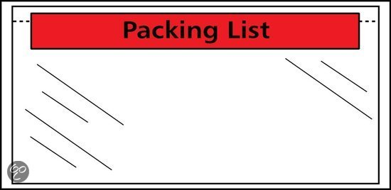 Raadhuis paklijstenvelop 220x160mm A5 50 micron packinglist