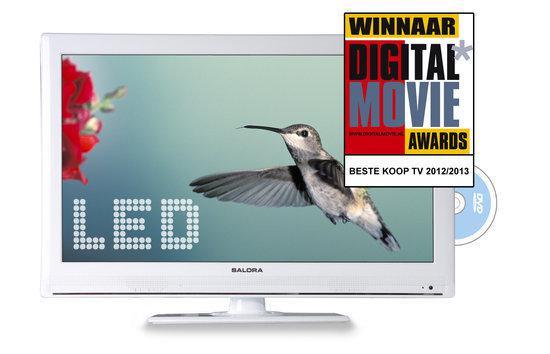 Salora LED2226FHDVX - Led-tv-/dvd-combo - 22 inch - Full HD - Wit