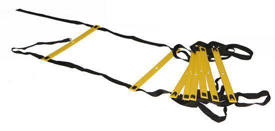 Body Sculpture Powerline Speed Ladder - Loopladder - Zwart/Geel