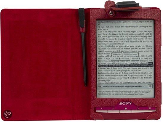 Gecko Covers Beschermhoes met LED Leeslampje voor Sony Reader - Rood