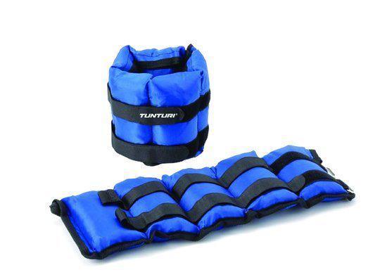 Tunturi Variabel Enkelgewichten en Polsgewichten - 2x 2.25 kg - Blauw