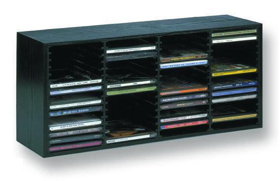 Cd rek houten cd box voor 60 cds zwart for Boeken opbergsysteem
