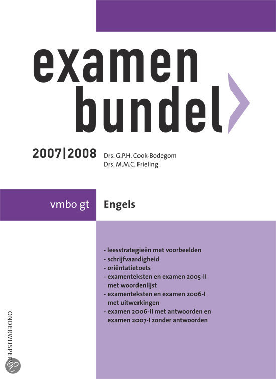 Examenbundel Vmbo Gt Engels