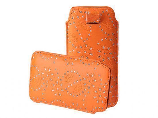 Bling Bling Sleeve voor uw Htc Desire X Dual Sim, Oranje, merk i12Cover in Weillen