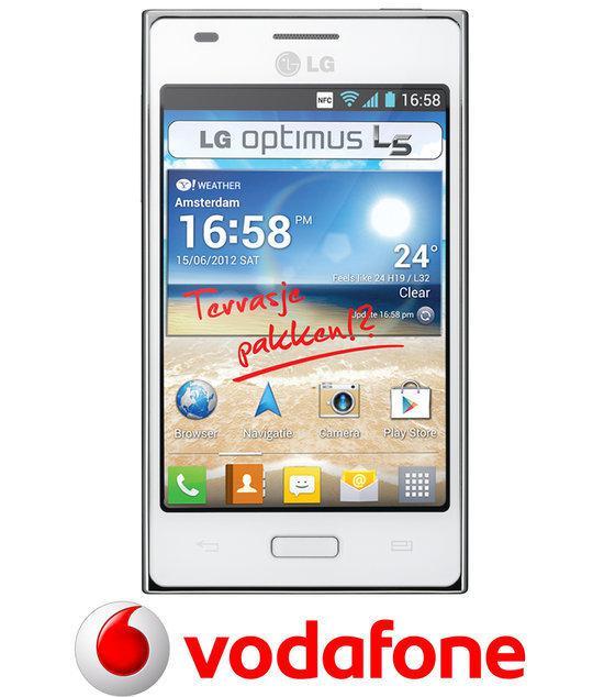 LG Optimus L5 - Vodafone prepaid telefoon - Wit
