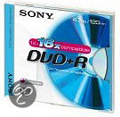 Sony DVD+R 120min/4,7GB 16x 5 stuks in jewelcase