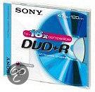 Sony DVD+R 120min/4,7GB 16x 5 stuks in jewelcase
