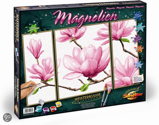 schilderen op nummer magnolia noris spiele gmbh. Black Bedroom Furniture Sets. Home Design Ideas