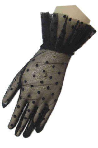 Handschoen kort kant zwart thumbnail