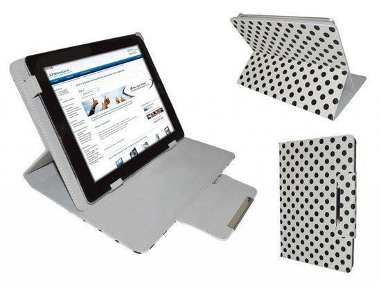 Polkadot Hoes  voor de Iconbit Nettab Sky 3g Duo, Diamond Class Cover met Multi-stand, merk i12Cover in Remersdaal