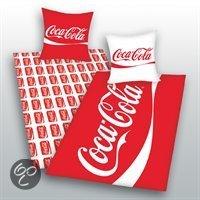 dekbedovertrek coca cola rood 1 persoons 140x200 cm 1 sloop. Black Bedroom Furniture Sets. Home Design Ideas