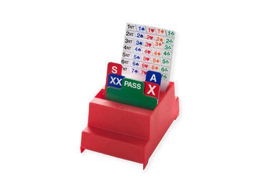 Afbeelding van het spel Set van 4 Bridge Biddingboxen NBB, rood