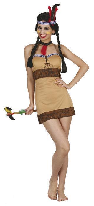 Indiaan Cheyenne - Kostuum - Maat M - Bruin