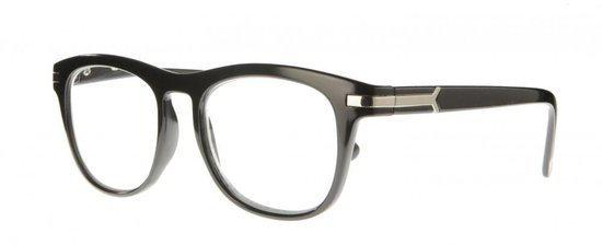 Icon Eyewear NCB303 Brad Leesbril +1.50 - Zwart - Zilverkleurig insert