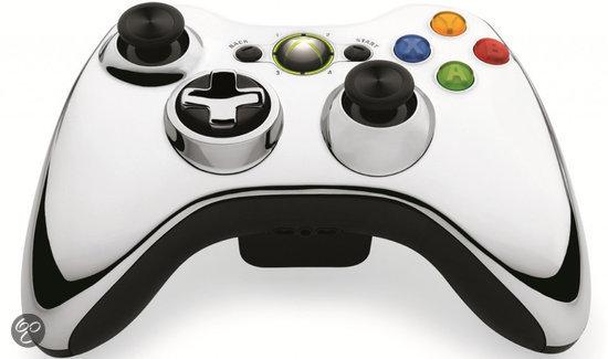 Microsoft Xbox 360 Draadloze Controller Chroom Zilver - Limited Edition