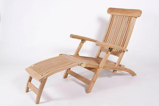 Ligstoel deckchairl kingston teakhout for Ligstoel buiten