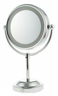 verlichte make up spiegel exlcusief batterijen verchroomd metaal. Black Bedroom Furniture Sets. Home Design Ideas