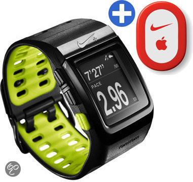 Nike+ GPS Sporthorloge met schoensensor - Zwart/Geel