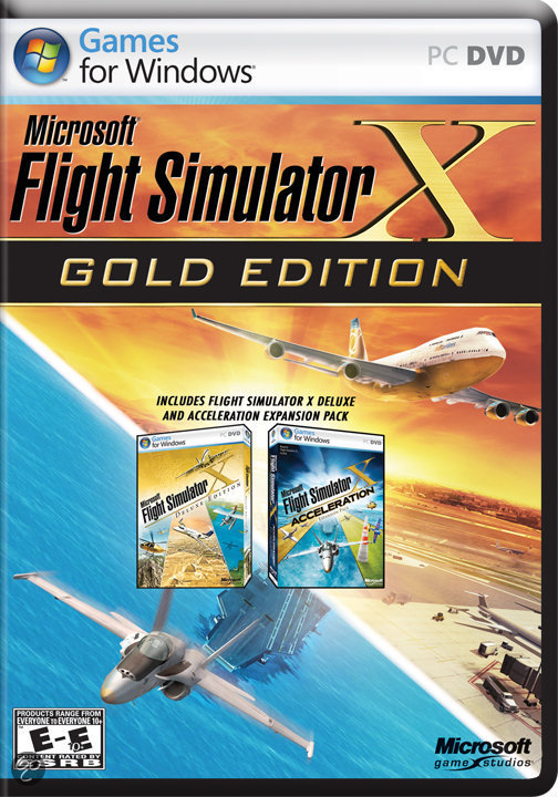 flight simulator x gold edition microsoft games