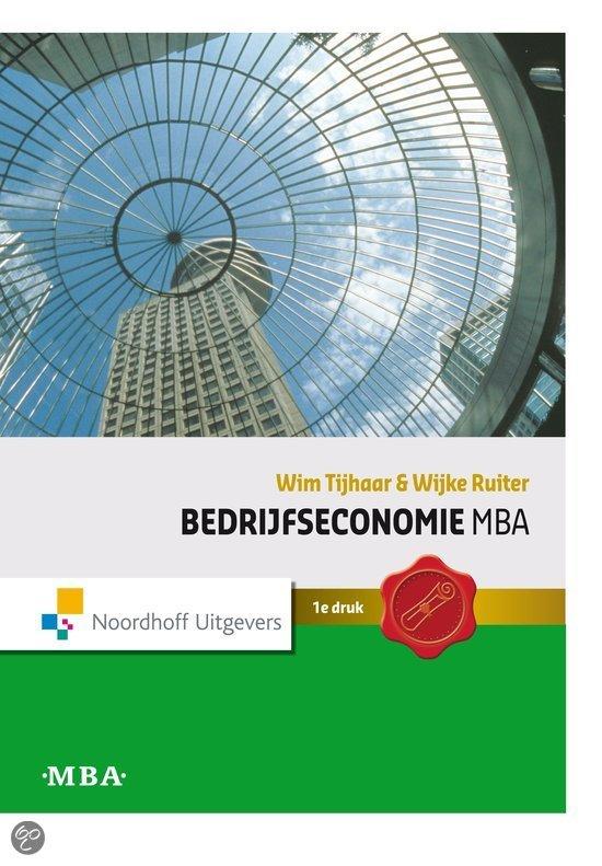 Bedrijfseconomie Mba / Deel Hoofdboek