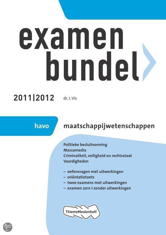 Examenbundel / Maatschappijwetenschappen Havo 2011/2012
