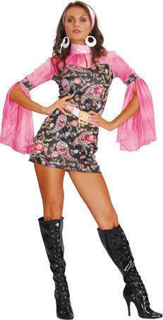 Luxe Party chick - Kostuum - Maat M - Roze