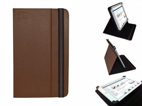 Uniek Hoesje voor de Prestigio Multipad 2 Pro Duo 7.0 - Multi-stand Cover, bruin , merk i12Cover in Het Stift
