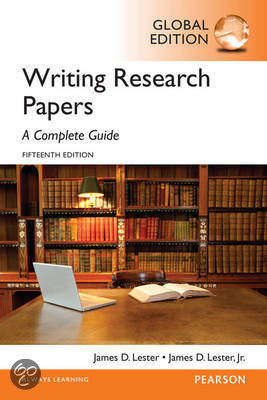 writing research papers a complete guide by james d lester Writing research papers: a complete guide (paperback), 15th edition by james d lester published by pearson description the definitive research paper guide, writing research papers.