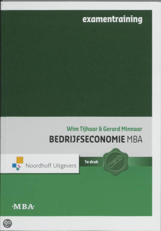 Bedrijfseconomie MBA examentraining