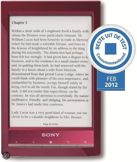 Sony Reader Wi-Fi PRS-T1 - Rood