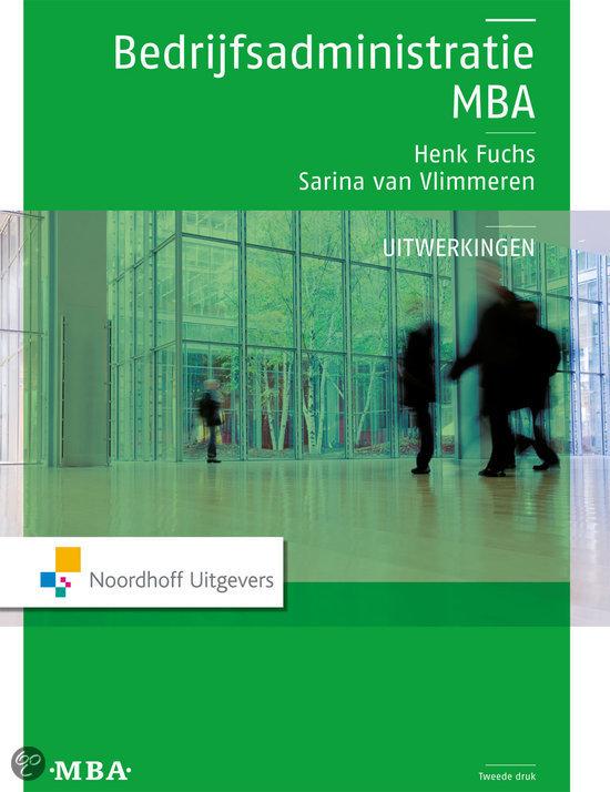 Bedrijfsadministratie MBA uitwerkingen
