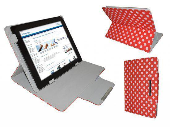 Polkadot Hoes  voor de Ac Ryan Tab 7x Dual Core, Diamond Class Cover met Multi-stand, merk i12Cover in Clermont (Nam.)