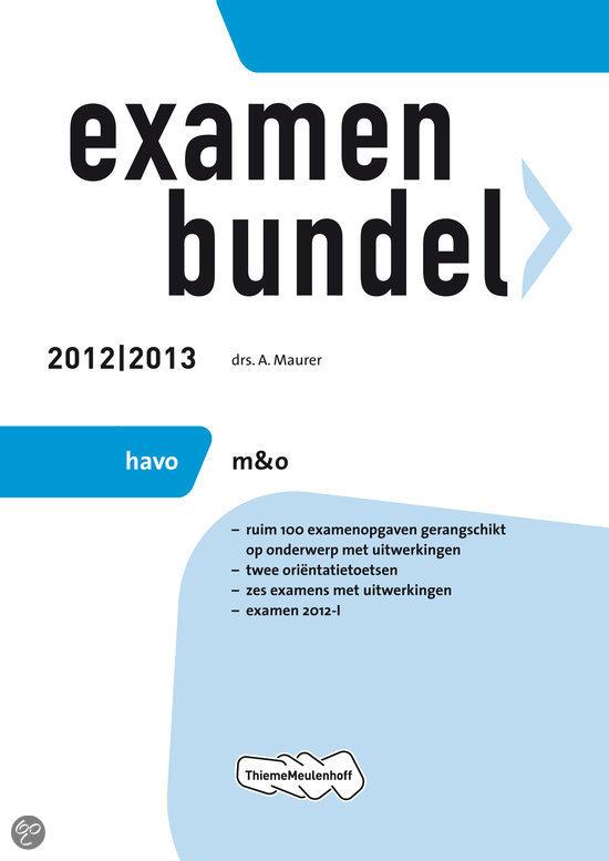 Examenbundel havo / M&O 2012/2013
