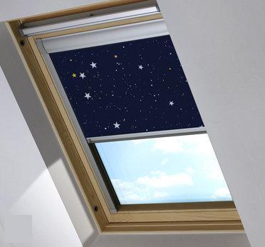 Bloc verduisterend dakraamgordijn geschikt voor VELUX ® GGU S08, Night Sky