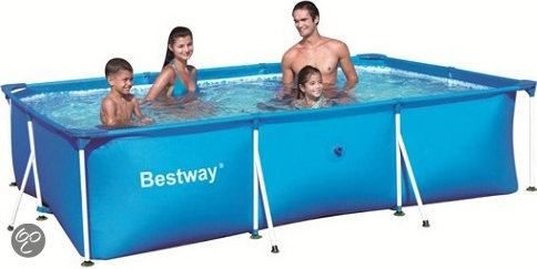 Bestway stalen frame rechthoekig zwembad for Rechthoekig zwembad