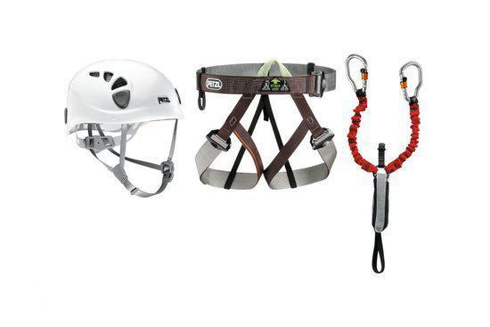 Klettersteigset Petzl : Bol petzl via ferrata kit klettersteigset gr rood wit