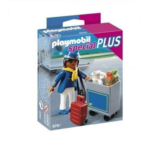 Playmobil Stewardess met Trolley - 4761