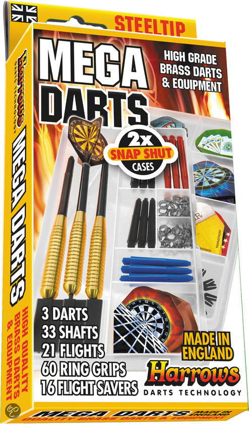 Harrows Steeltip Mega Darts Giftset