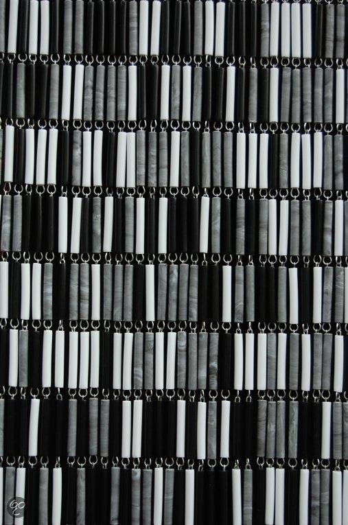 bol.com | Sun-arts vliegengordijnen Deurhor mix wit - zwart - grijsvlam