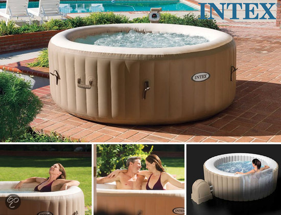 Intex zwembad intex purespa opblaasbare jacuzzi for Zwembad tuin intex