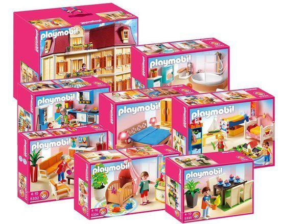 1667 playmobil bundel poppenhuis 5302 met alle for Playmobil esszimmer 5335