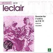 Leclair: Sonatas for 2 Violins / Banchini, Holloway