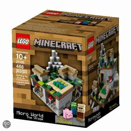 Lego minecraft microworld the village 21105 lego for Lego world craft