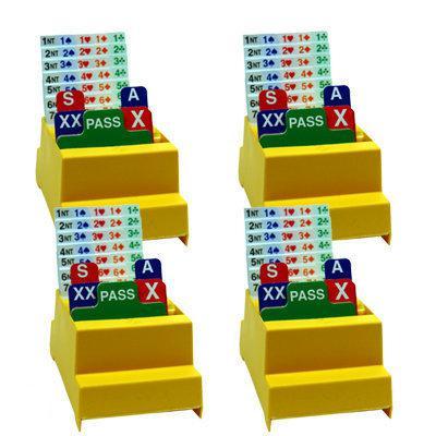 Afbeelding van het spel Set van 4 Bridge Biddingboxen NBB, geel