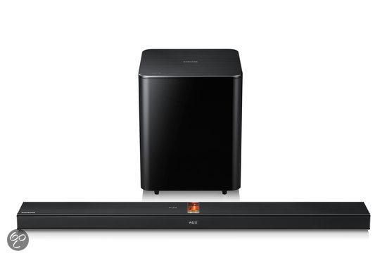 Samsung HW F750 - Soundbar met draadloze subwoofer - Zwart