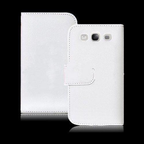 Witte Leren Portemonnee.Bol Com Samsung Galaxy S3 Iii Faux Lederen Pasjeshouder Cover