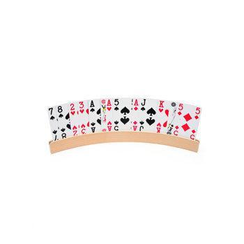 Speelkaartenhouder hout 50 cm