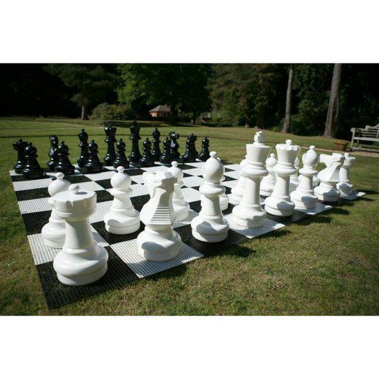 Afbeelding van het spel Tuin Schaken Groot - Kunsstof - tot 64 cm hoog