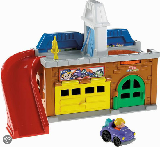 Fisher price little people wheelies stow 39 n tow for Garage a persan